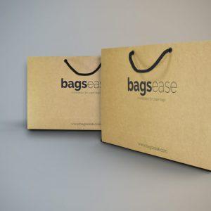 """Regular Brown Kraft Paper Bag -Euro-Tote ( 10""""x14""""x3.5"""" )"""