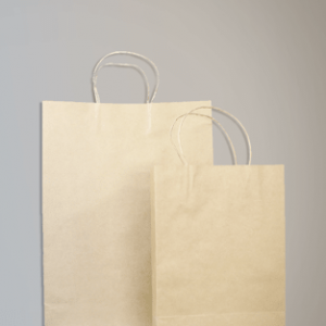 "Imported Brown Kraft Paper Bag -Euro-Tote ( 10""x14""x3.5"" )"
