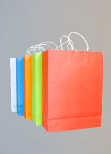 Coloured Paper Bags with Handles